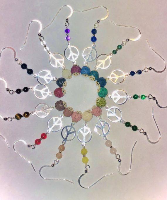 Peace & Lava Diffuser Earrings